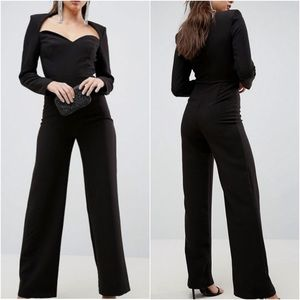 ASOS COLLECTION SWEETHEART NECKLINE JUMPSUIT